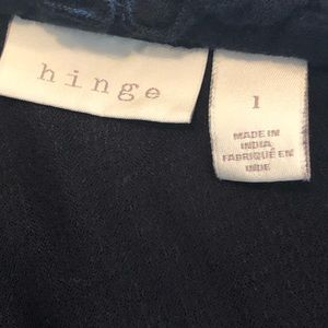 hinge Tops - Hinge black one shoulder ruffle sleeve top. Large